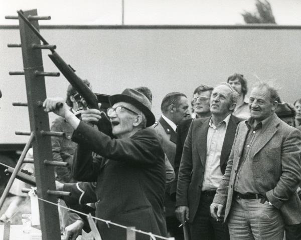 Koningschieten Schutterij St. Jan 1978. Bron Gelders Schuttersmuseum, Collectie Gelderland