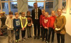 Kinderen BSO het Talent op bezoek bij burgemeester gemeente Zevenaar